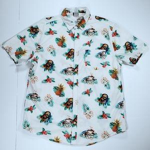 Star Wars Chewbacca Floral Hawaiian Shirt Mens L